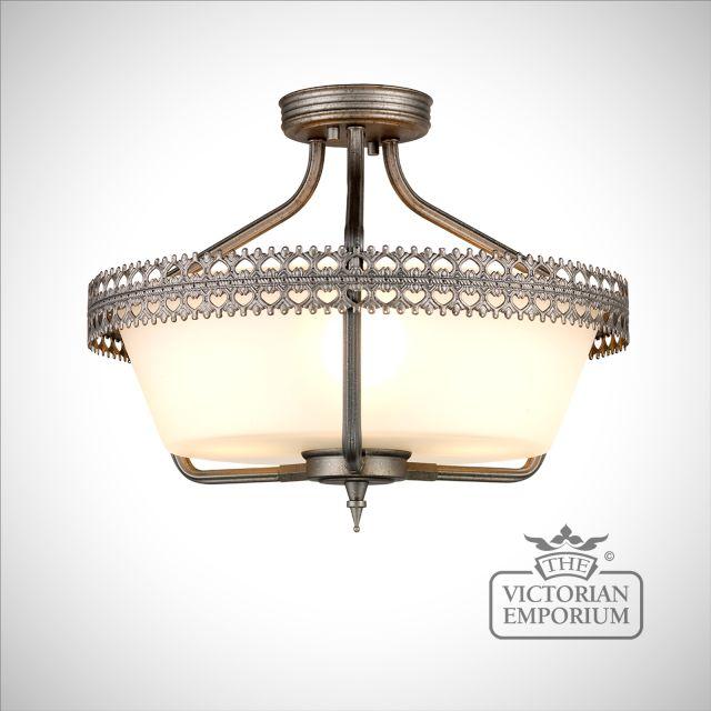 Crown Semi Flush Ceiling Light
