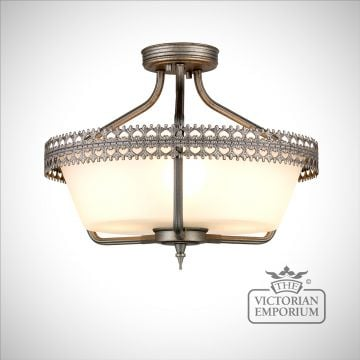 Crown Semi Flush Ceiling Light