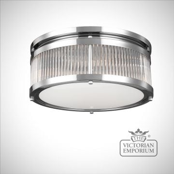 Pauls Bathroom medium flush mount light in polished chrome