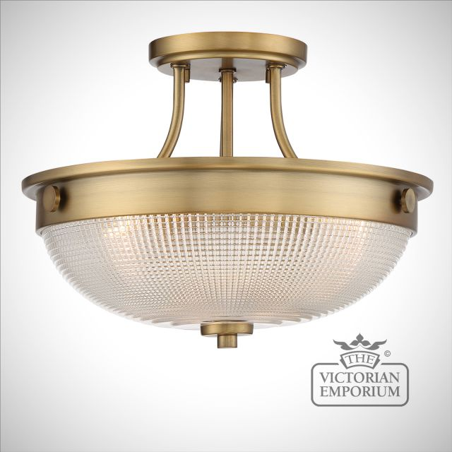 Mantlepiece Semi Flush Ceiling Light