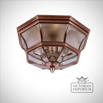 Newbury Flush Mount Light in Aged Copper