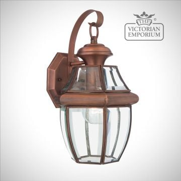 Newbury medium wall light in Aged Copper