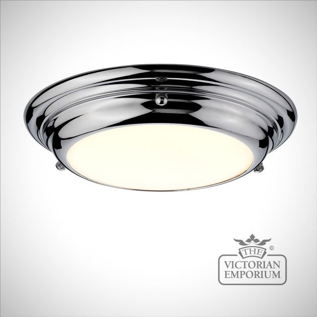 Wellend Shallow Small Flush Mount light in choice of 3 finishes