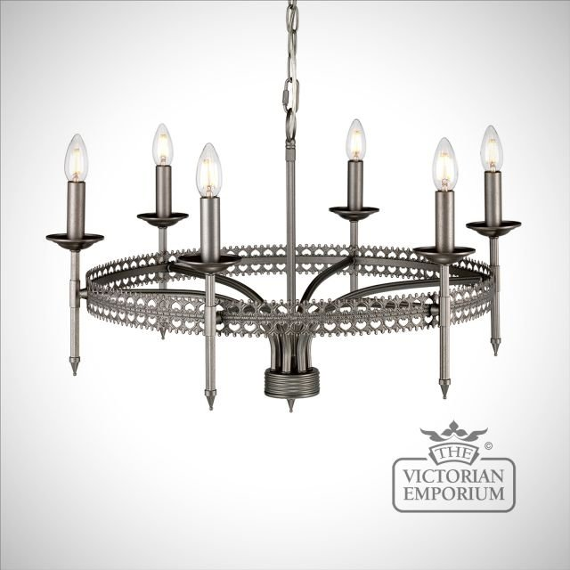 Crown Six Light Pendant