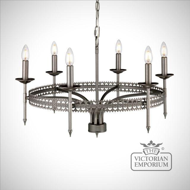 Crown Six Light Pendant