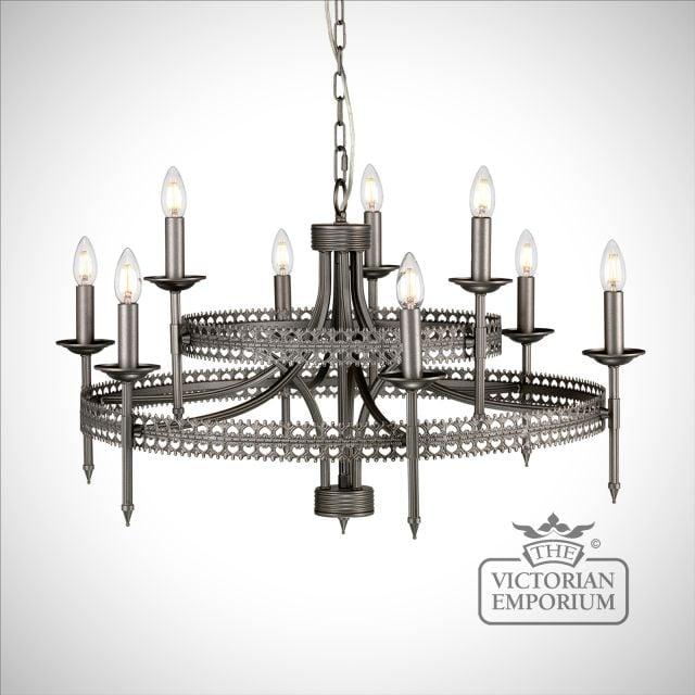 Crown Nine Light Pendant