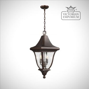 Oakmount Medium Chain Lantern in Patina Bronze