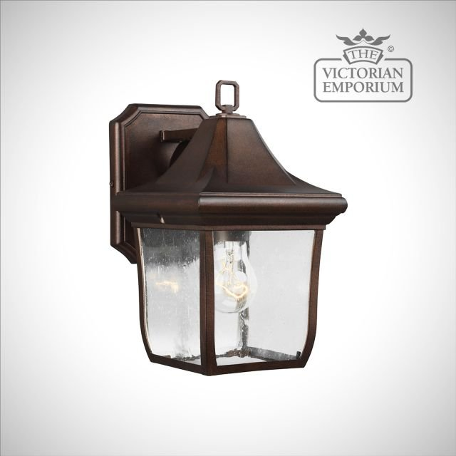 Oakmount Small Wall Lantern in Patina Bronze