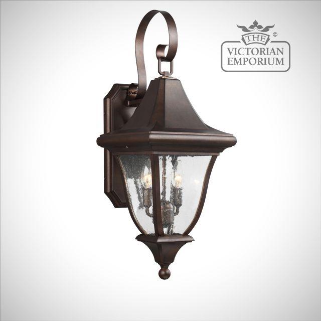 Oakmount Medium Wall Lantern in Patina Bronze