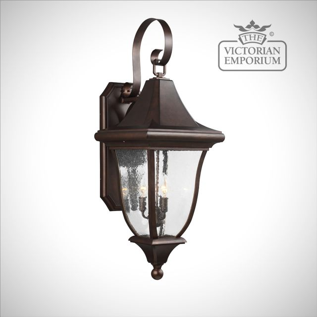 Oakmount Large Wall Lantern in Patina Bronze