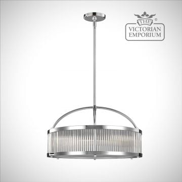 Pauls 4 light wide pendant
