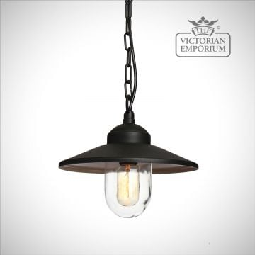 Klampenborg chain lantern in black