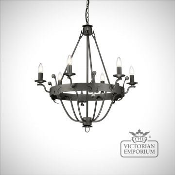 Winsor 6 light chandelier