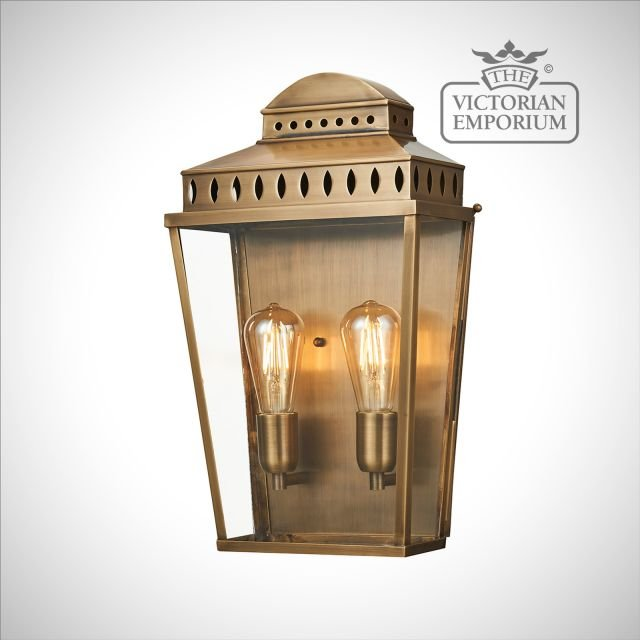 Mansion House large wall lantern - brass