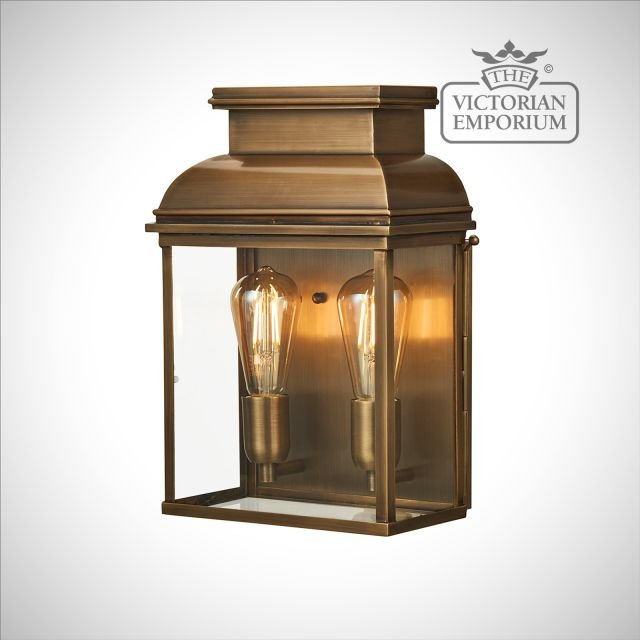 Bailey large brass wall lantern - antique brass
