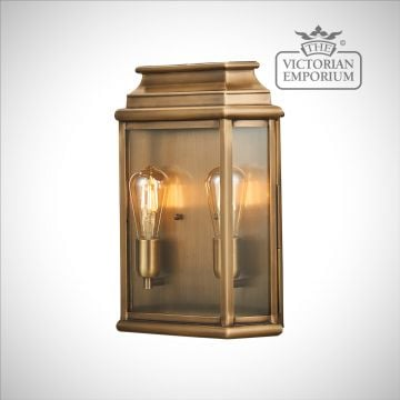 Martins large brass wall lantern - antique brass