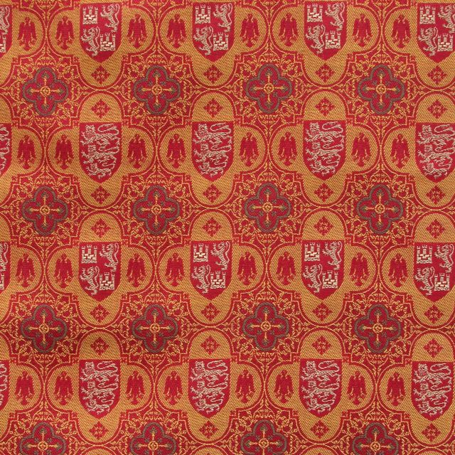 Heraldic Tower Fabric - Wool/silk/metal