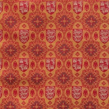 Heraldic Tower Fabric - curtain fabrics and upholstery fabric