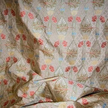 Kentchurch silk Fabric - Cream - curtain fabrics and upholstery fabric