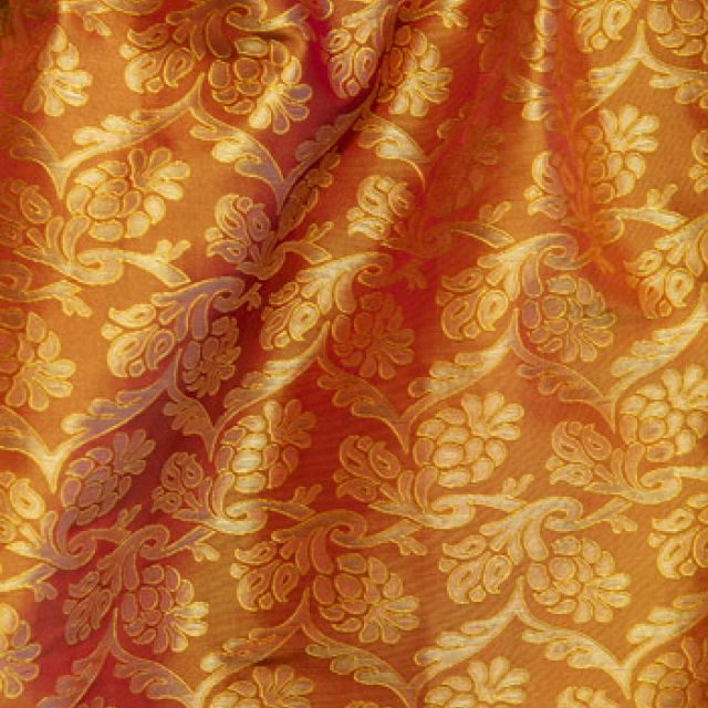 Portia Fabric - Gold or Sunstone - 100% Silk