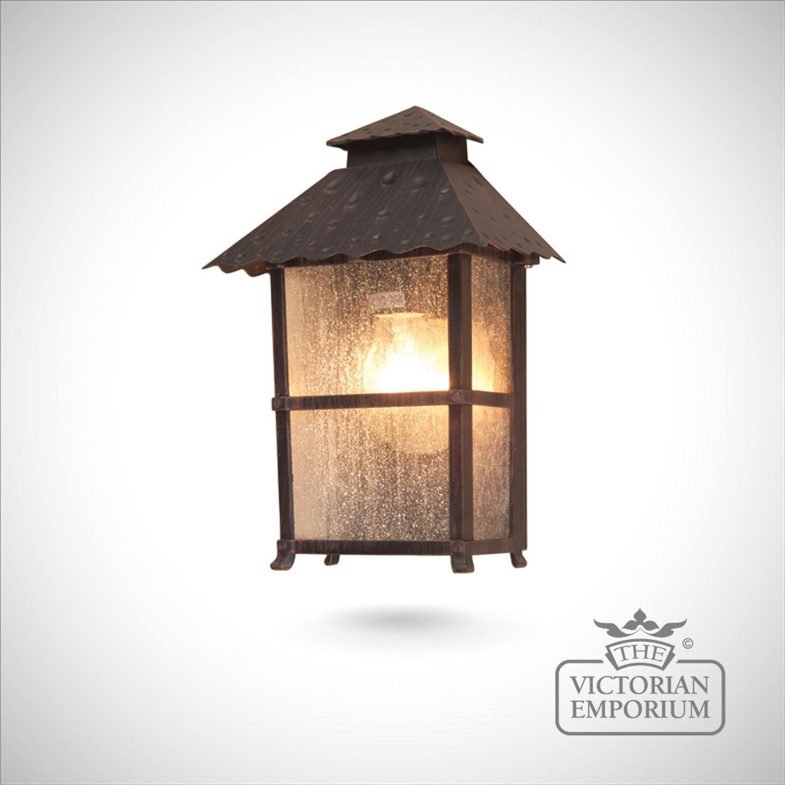 Outdoor Wall Sconce Half Sun And Details Rustic Light: Wadebridge Half Lantern