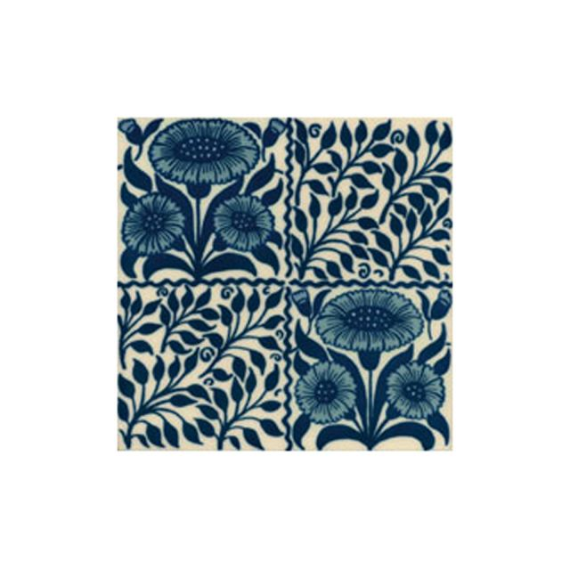 Victorian Oreton blue decorative tiles 152x152mm - exterior use