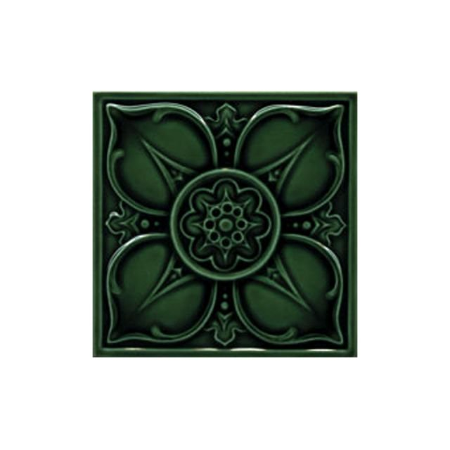 Victorian Leighton single colour decorative tiles 152x152mm - exterior use - laurel