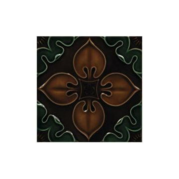 Victorian Benthall multi coloured decorative tiles 152x152mm - exterior use - chestnut