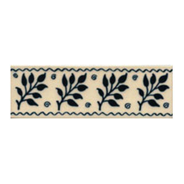 Victorian Fenton blue decorative tiles 50 x152mm - exterior use