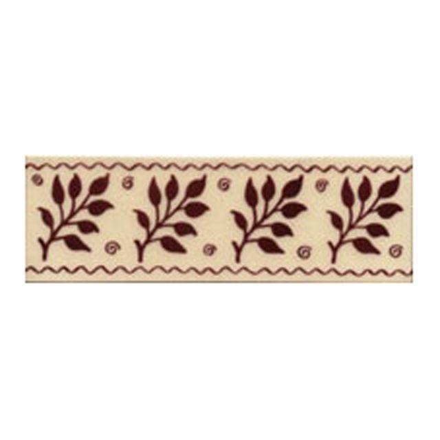 Victorian Fenton red decorative tiles 50 x152mm - exterior use