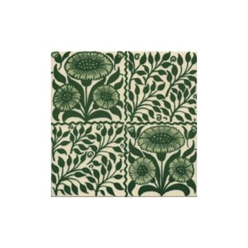 Victorian Oreton green decorative tiles 152x152mm - exterior use