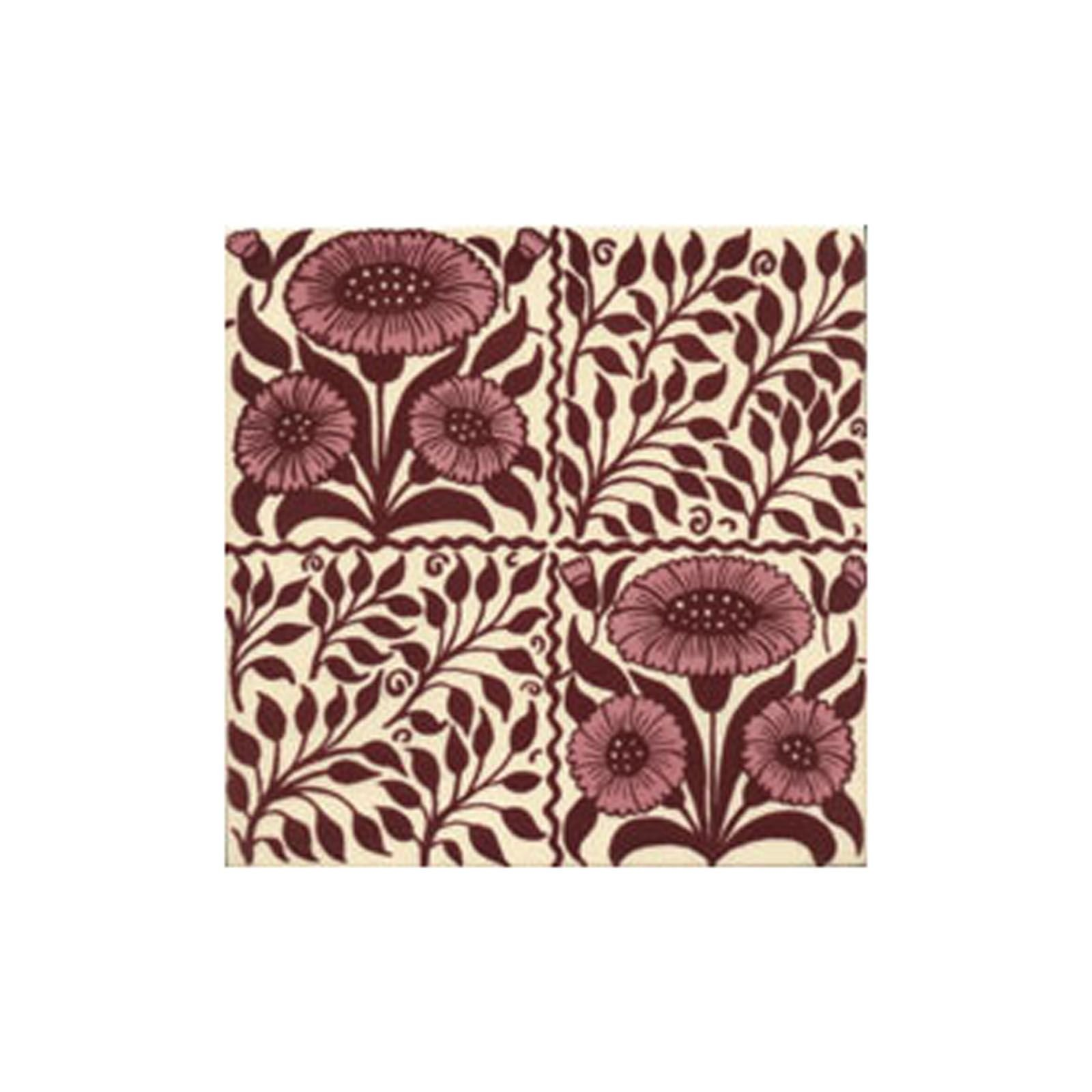 Victorian oreton red decorative tiles 152x152mm exterior - Decorative exterior wall tiles ...