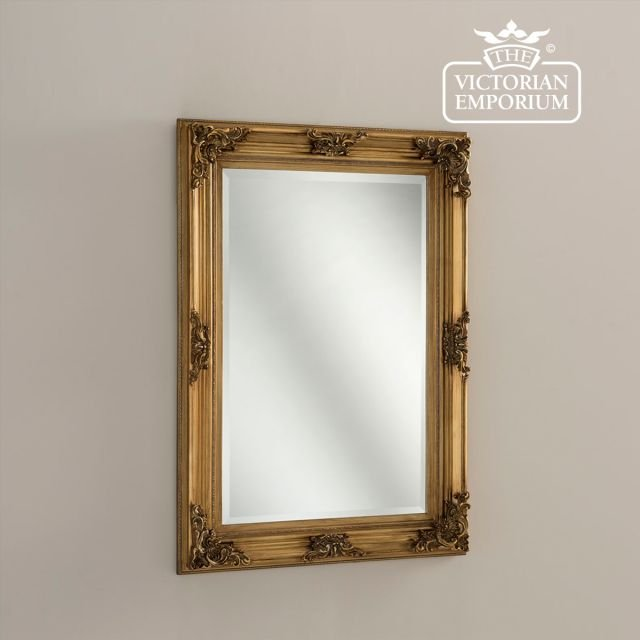 Hilton Mirror in Gold in a choice of two sizes