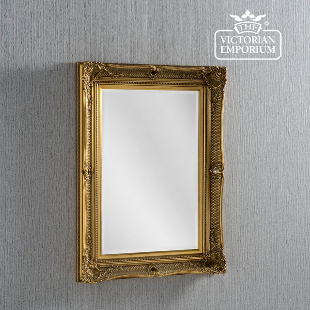 Heritage Mirror in Gold in a choice of two sizes
