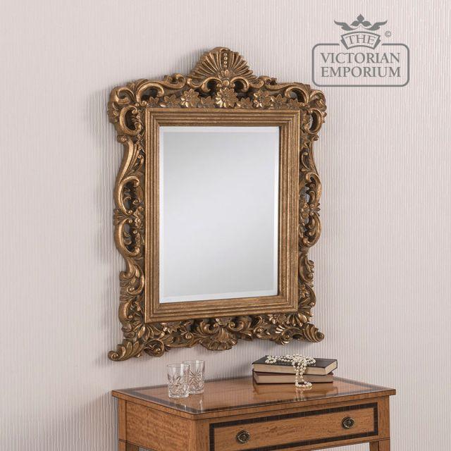 Ornate mirror in a decorative shape 86cm x 69cm