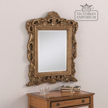 Ornate mirror in a decorative shape 86cm x 69cm
