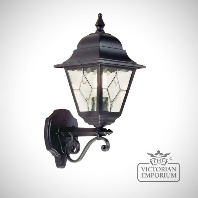 Norfolk up wall lantern with optional PIR