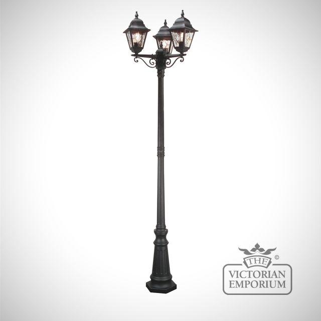 Norfolk three light lamp post