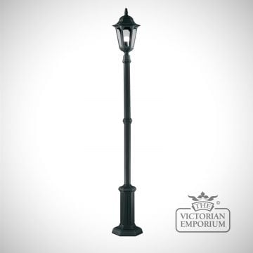 Parish lamp post with lantern