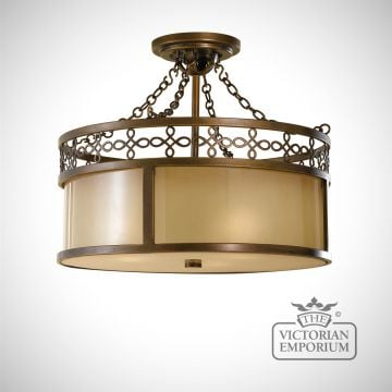 Justine semi flush mount light