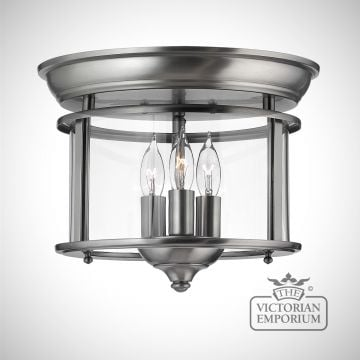 Gentry flush mount light in pewter