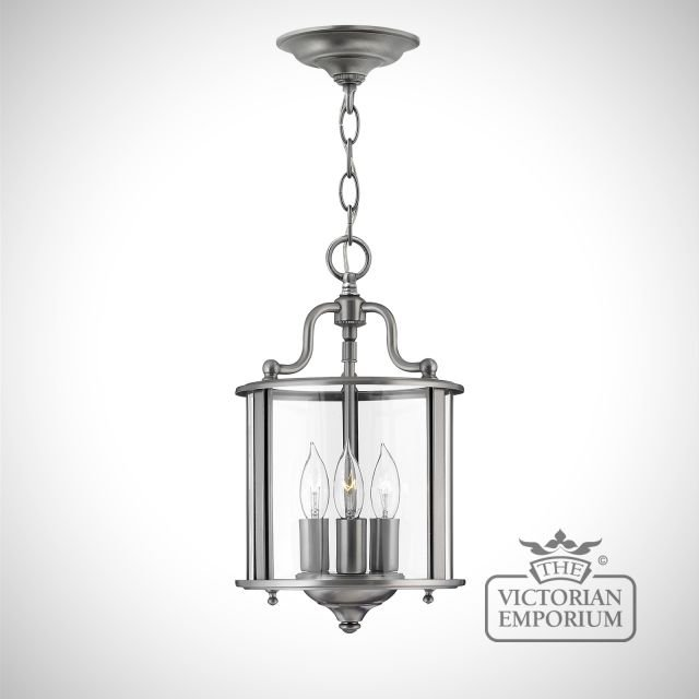 Gentry small pendant in polished pewter