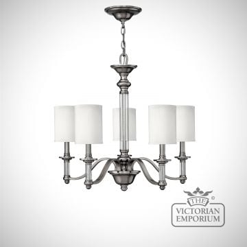 Sussex 5 light brushed nickel chandelier