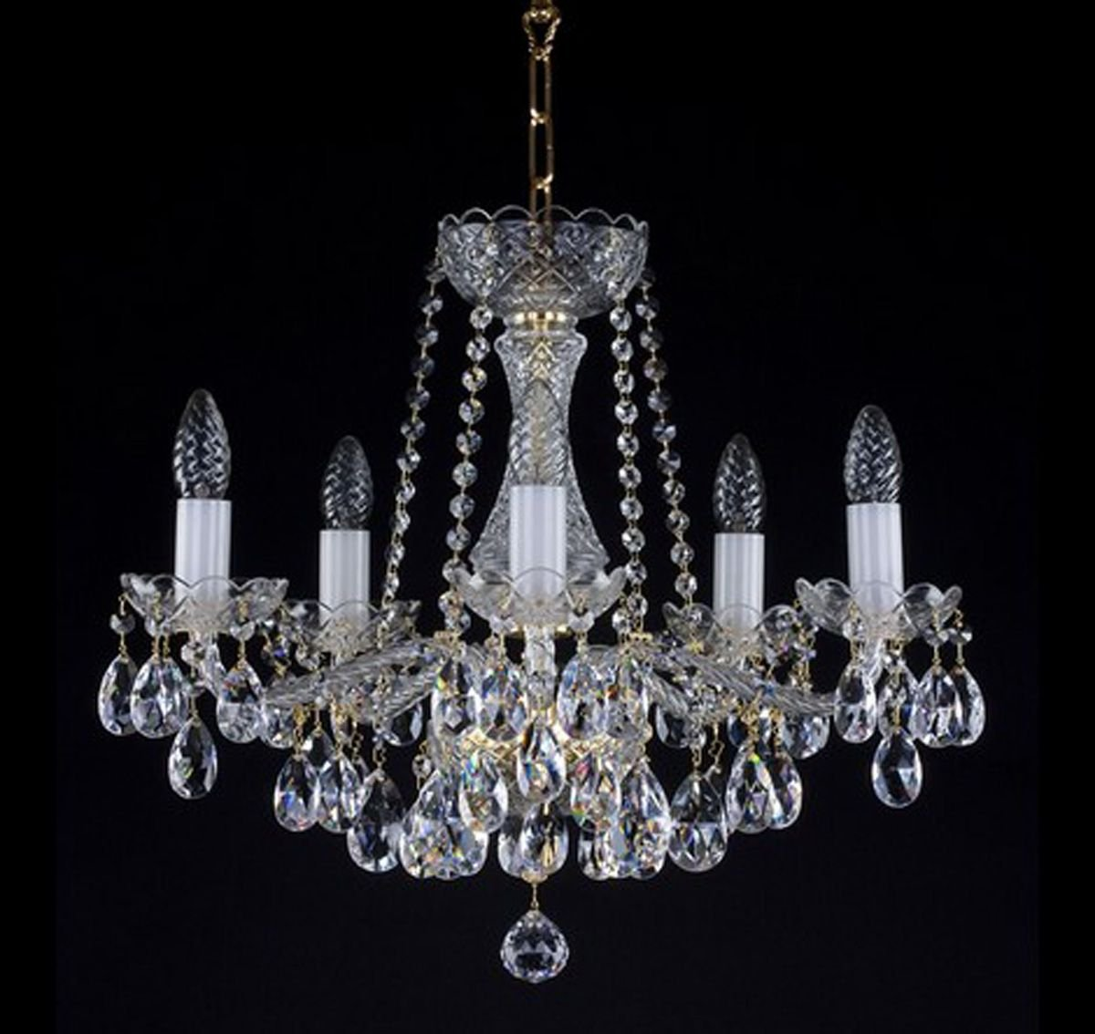 Beautiful 5 Arm Crystal Chandelier Ceiling Chandeliers