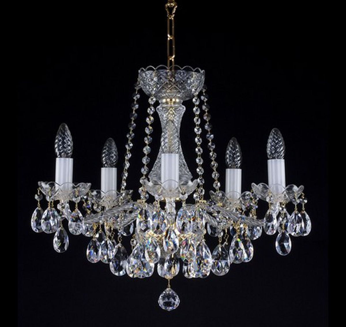 Beautiful 5 arm crystal chandelier ceiling chandeliers - Pictures of chandeliers ...
