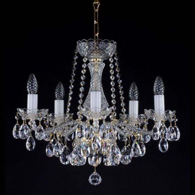 Beautiful 5 arm crystal chandelier