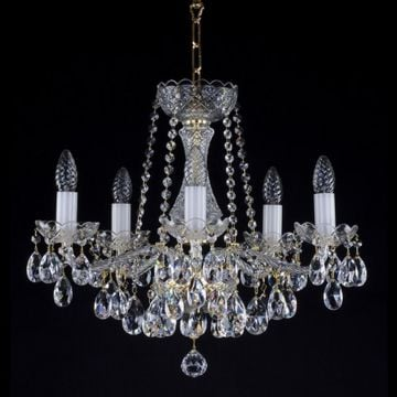 Beautiful 5 arm crystal chandelier