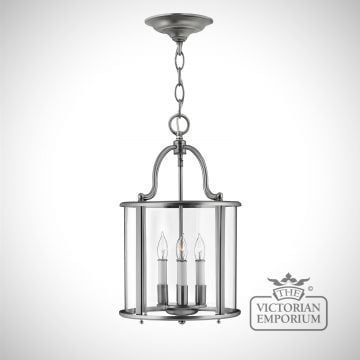 Gentry medium pendant in pewter