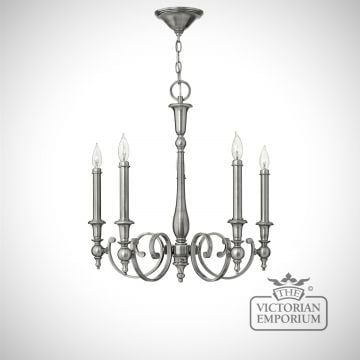 York 5 light chandelier