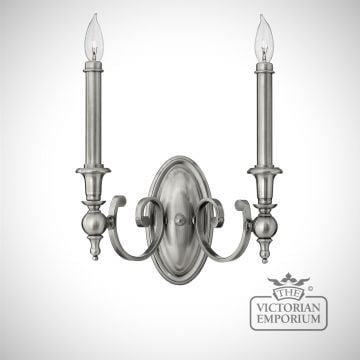 York double wall sconce